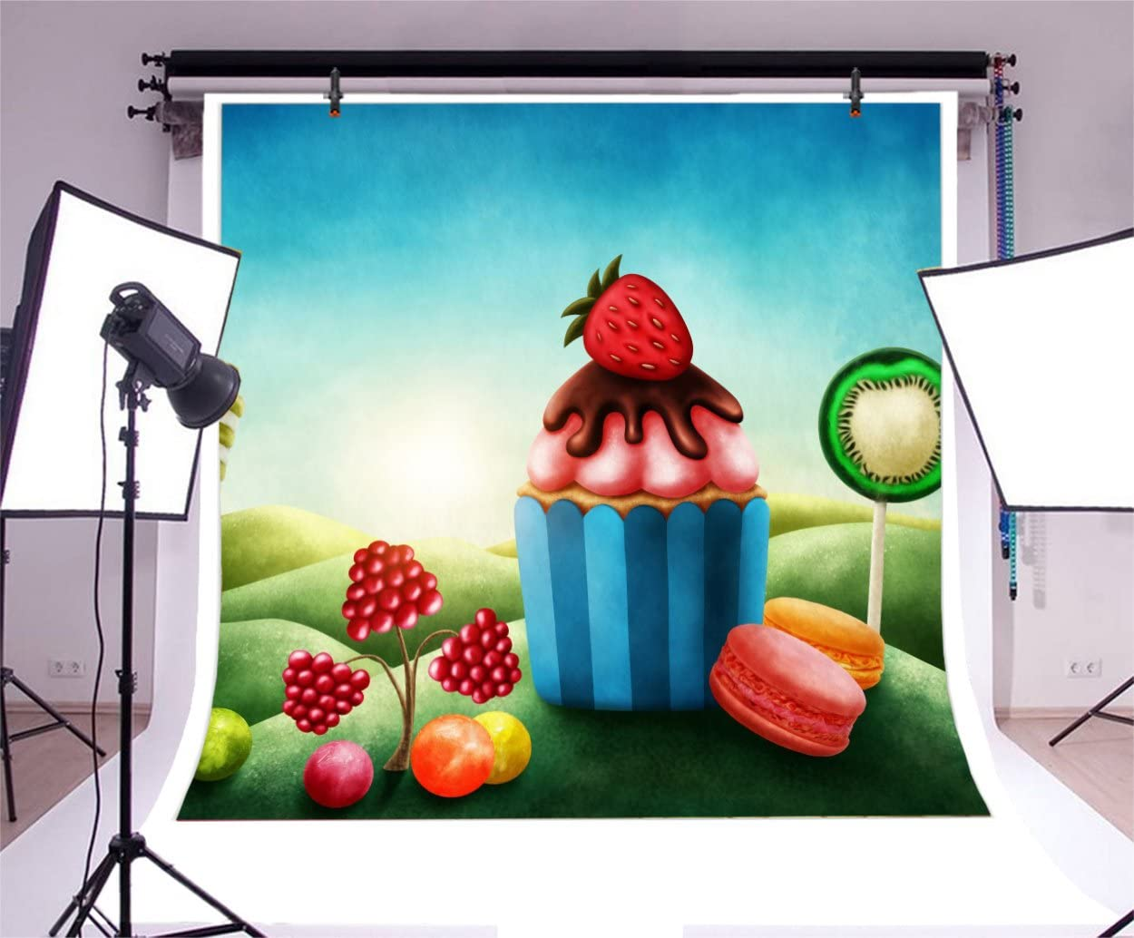 5x5FT Vinyl Photography Backdrop,Pale Pink,Vertical Borders Figures Photo Background for Photo Booth Studio Props