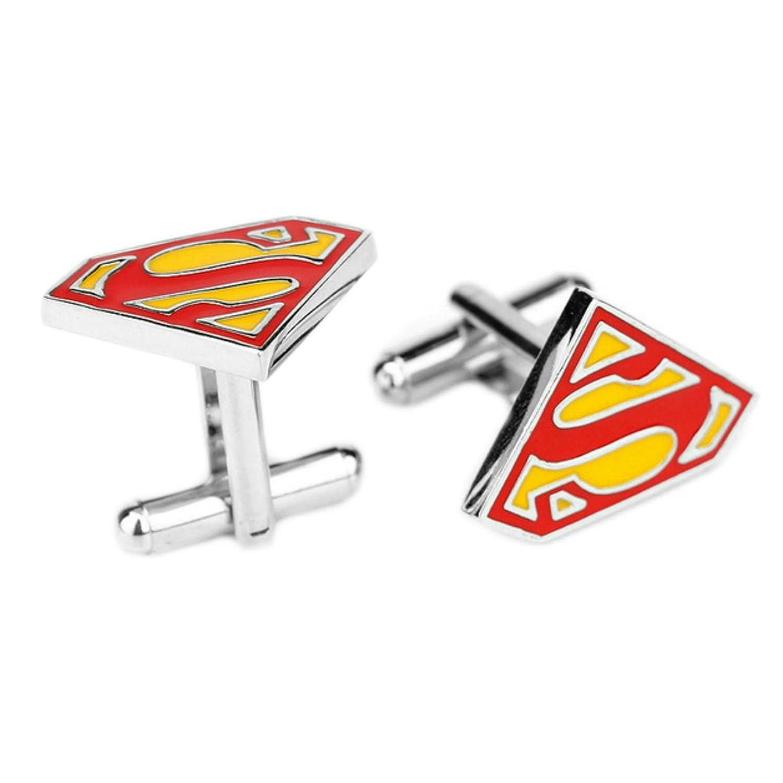 DC Comics Superman Superhero Theme Logos Groom Groomsmen Mens Boys Cufflinks Outlander Gear