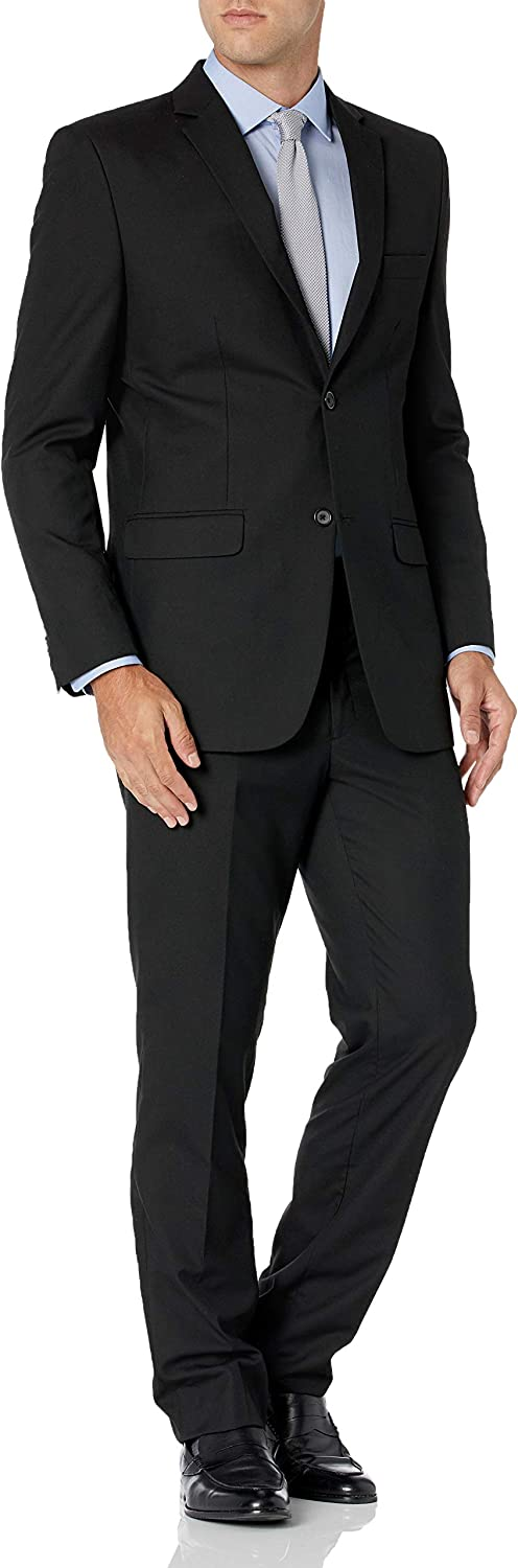Greg Norman Men's Two Button Center Vent Suit with Flap Pockets