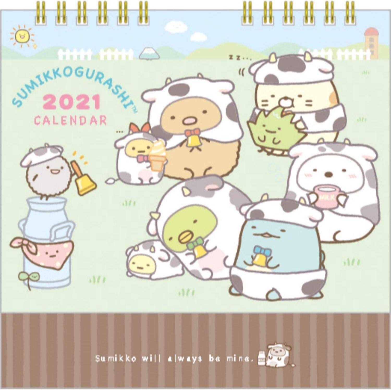 San-X SC G 2021 Calendar (Japan) Desktop CD35301 [Size] 140x180mm