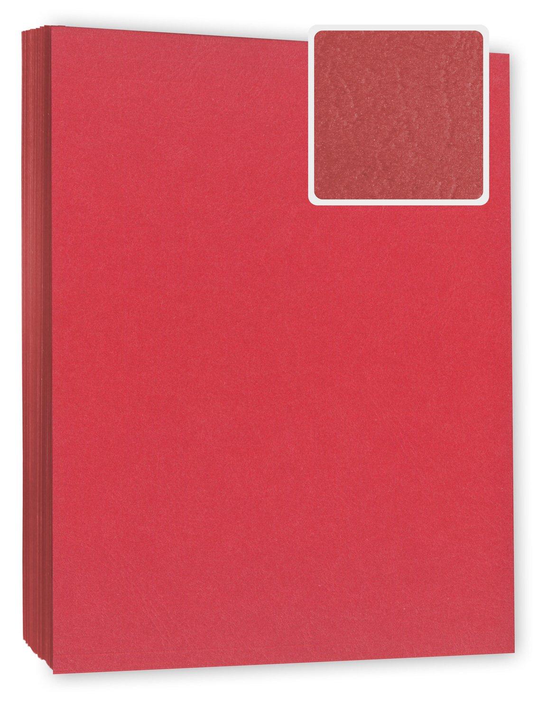 Deckblatt / Rückblatt, WEIß, Karton DIN A4 in Lederoptik, 240g/m², 100 Stück, Umschlagmaterial für Bindungen Deckblatt / Rückblatt WEIß 240g/m² 100 Stück