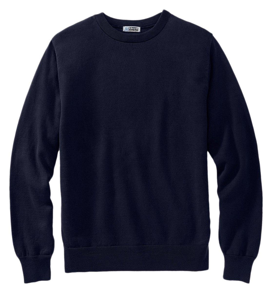 Ed Garments Men's Fine Gauge Crew Neck Sweater, NAVY, X-Large