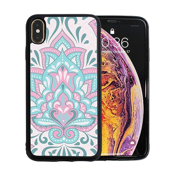 newest ea95f ebd15 Amazon.com: iPhone Xs Max Case,Folk Floral Pattern TPU Anti Scratch ...