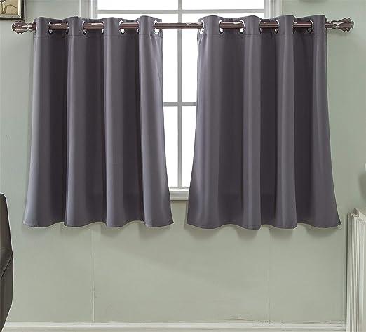 Polyestergarn Scheibengardine Küchengardine Halbvorhang für kleine Fenster.