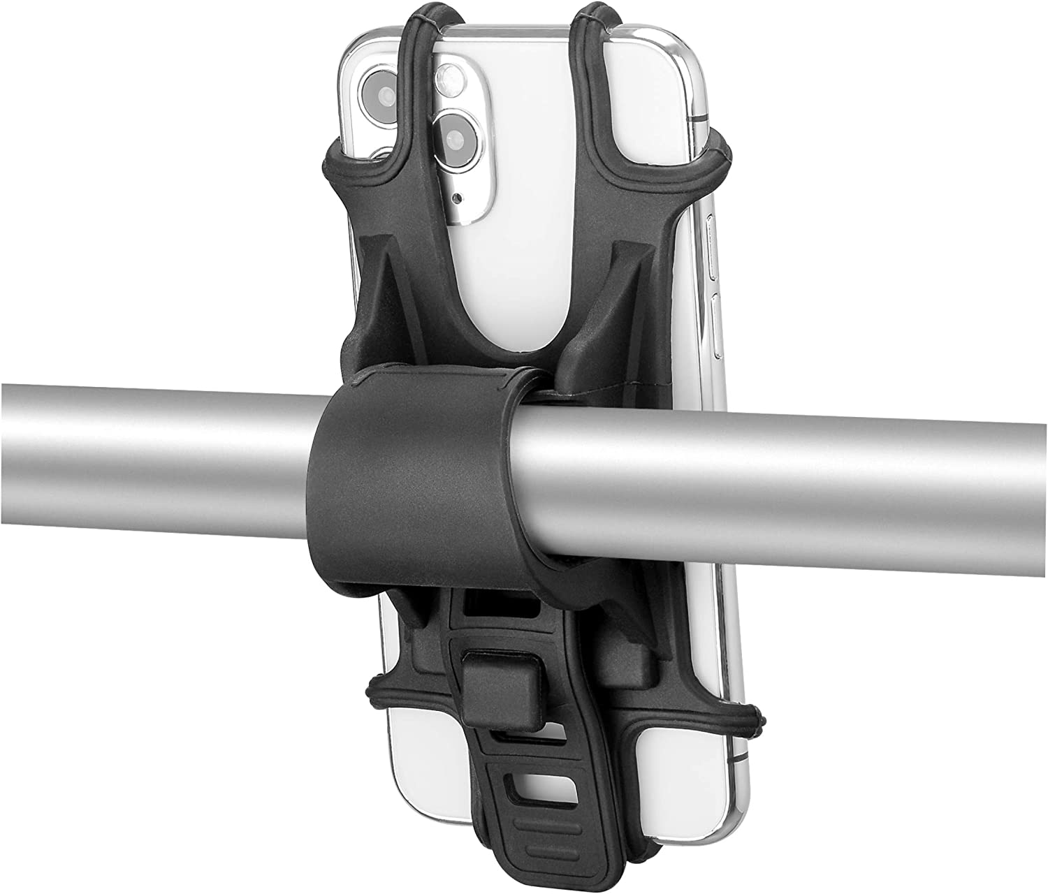 Stationary Bike Phone Mount Holder for iPhone 11 Pro/max/xr/xs Max / 8/7 / 6 / 6s Plus - Phone Bike Mount Installed on Bicycles/Motorcycles/Strollers/Shopping Carts.