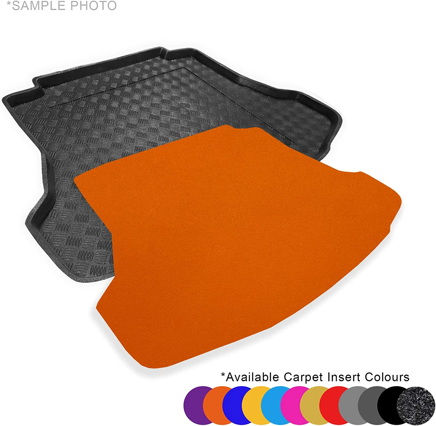 FREE Grey Carpet Insert - CARMATS4U.COM Fully Tailored PVC Boot Liner//Tray Upper level of the boot only 102143