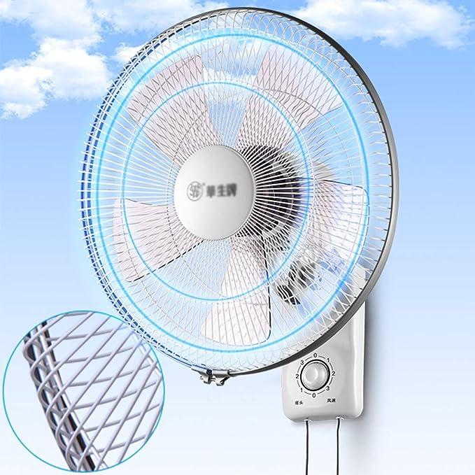 Ventilador de Pared Oscilante Ventiladores 35cm 90 ° oscilante 3 ...