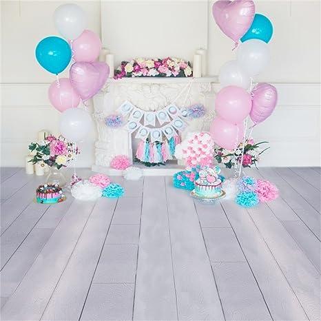 YongFoto 2x2m Vinilo Telon de Fondo Cumpleaños 1 año Hermosas Decoraciones Fondos Fotograficos Photo Booth Infantil Party Banner Niña Niño Photo ...