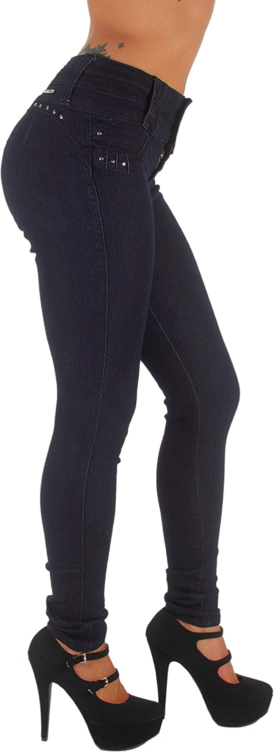 Fashion2Love Plus//Junior Size Colombian Design High Waist Butt Lift Skinny Jeans