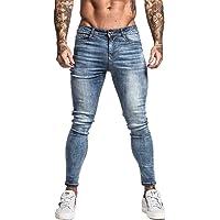 GINGTTO Mens Skinny Jeans Black Stretch Slim Fit Denim Pants High Rise