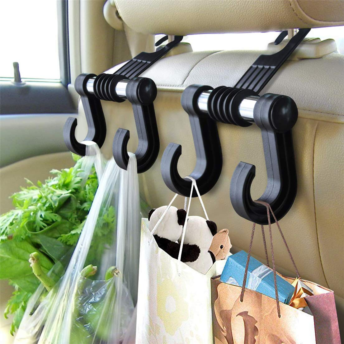 Stoff Gep/äck Haken f/ür Geldb/örse SUNMUCH 1 x Auto-Kopfst/ützenhaken mit Telefonhalterung f/ür R/ücksitz Taschen Kopfst/ütze Lebensmittel