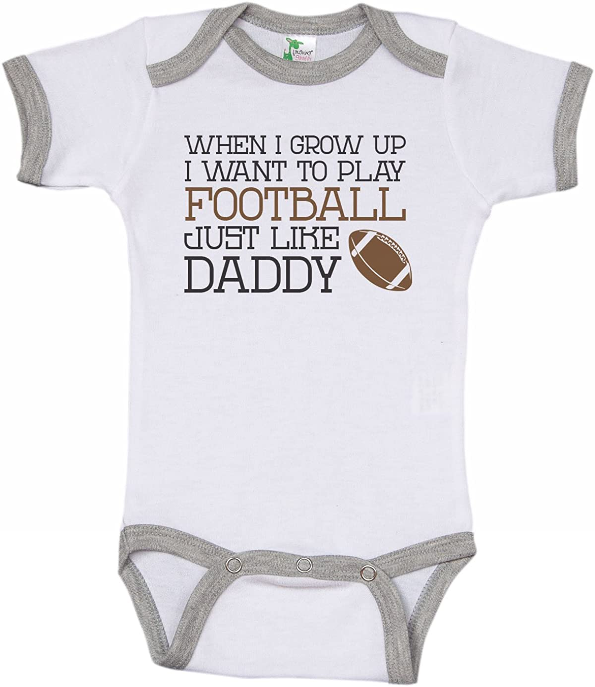 Football With Uncle Baby Onesie Shirt Shower Gift Newborn Clothes Gerber