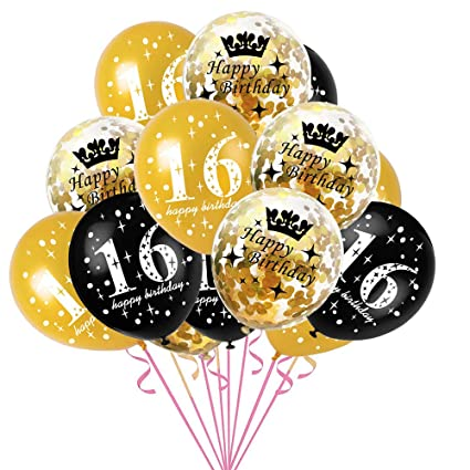 ZHONGXIN Globo de látex de cumpleaños, 16 18 30 40 50 60 ...