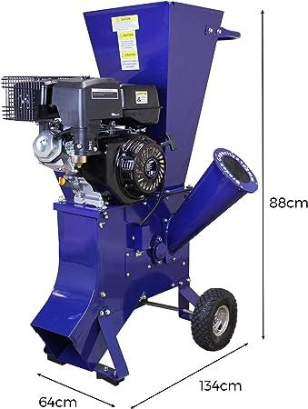 T-Mech - Trituradora de Ramas 15HP Gasolina para Destrucción de Ramas, Ramitas y Hojas para Jardineros Profesionales, Paisajistas y Aficionados: Amazon.es: Jardín