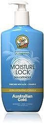 Australian Gold Moisture Lock Tan Extender Moisturizer Lotion