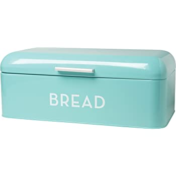 Turquoise Bread Box Classy Amazon Now Designs Bread Bin Turquoise Blue Kitchen Dining