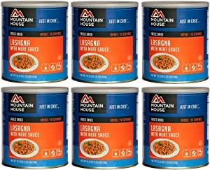 Mountain House Lasagna w/ Sauce #10 Can Freeze Dried Food - 6 Cans Per Case NEW!