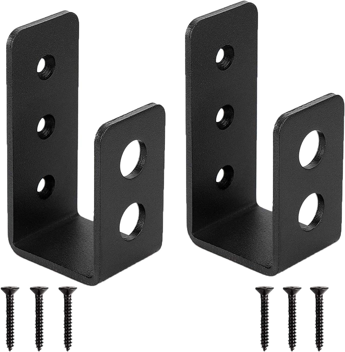 2x4 Door Barricade Brackets| Door Barricade Closed Bar Holder| Heavy Duty Steel Drop Open Bar Security Door Lock U Bracket Fits 2x4 Boards,Tool Hanger for Your Home,Barn,Gate,Shed,Garage (2)