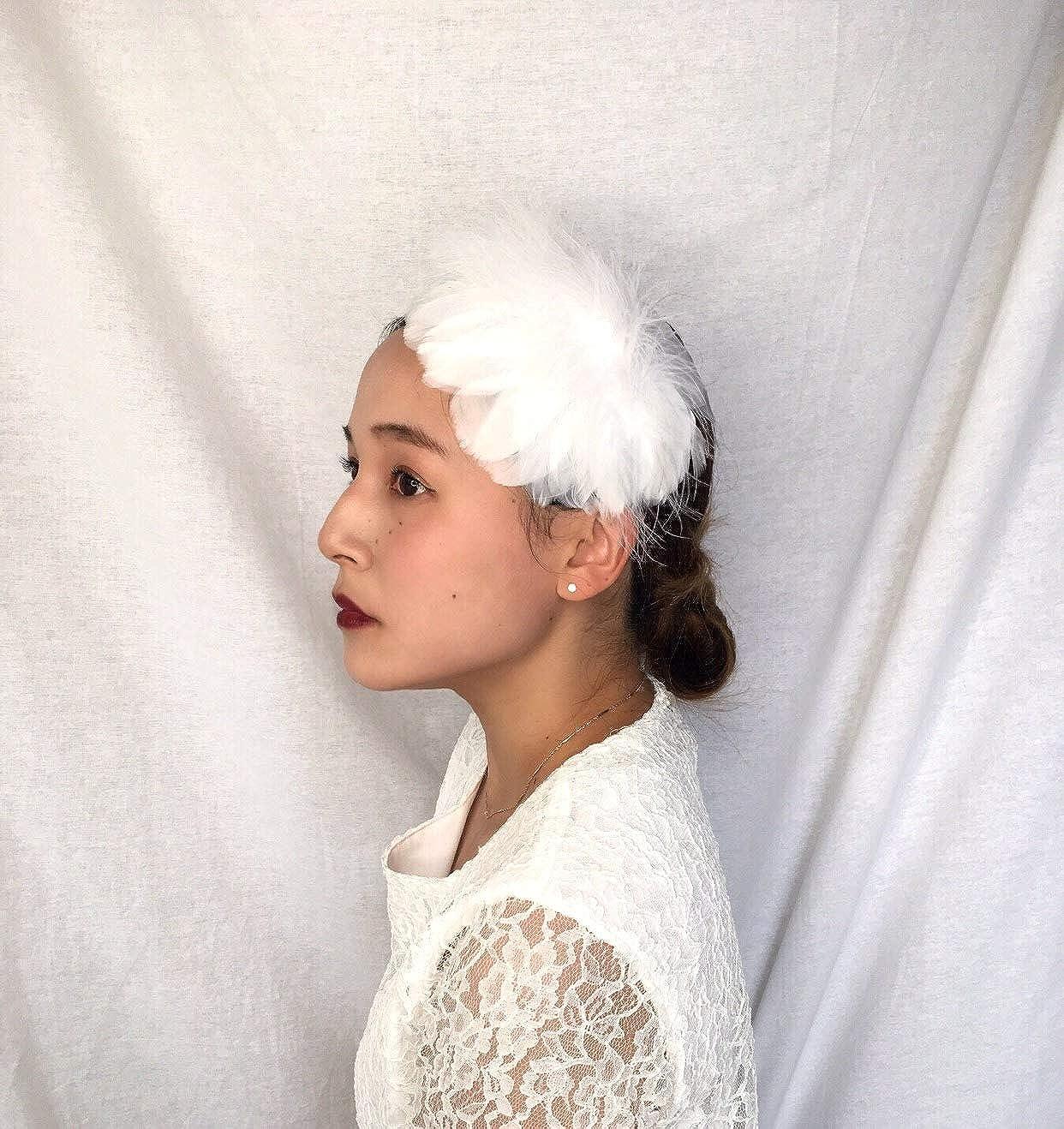 Yoshi edward Fascinators Elegant Feather Headband Wedding Headwear Ladies Royal Ascot
