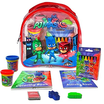 PJ Masks Coloring and Activity Backpack Childrens-Drawing-Pads-and-Books,