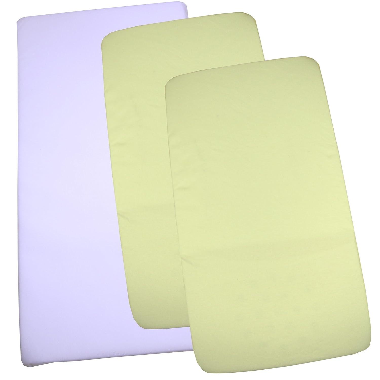 2/x cuna Jersey cuna S/ábana Bajera ajustable 100/% algod/ón 40/x 90/cm color crema