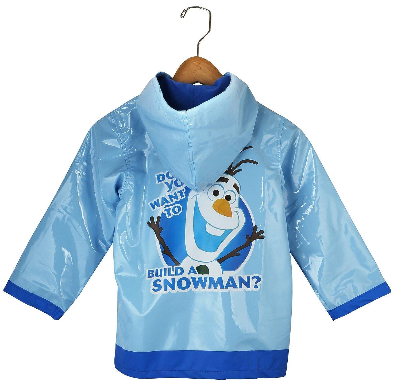 Disney Frozen Little Boys' Olaf Waterproof Outwear Hooded Rain Coat - Toddler FZF00912 AO