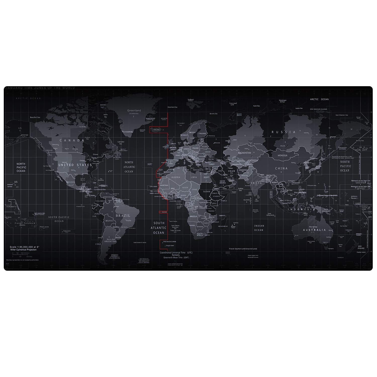 Cmhoo XXL Professional Large Mouse Pad & Computer Game Mouse Mat (35.4x15.7x0.1IN, Map) (9040 Map)