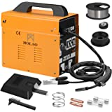SUNCOO 130 MIG Welder AC Flux Core Wire Automatic Feed Gasless Welding Machine 110 Volt with