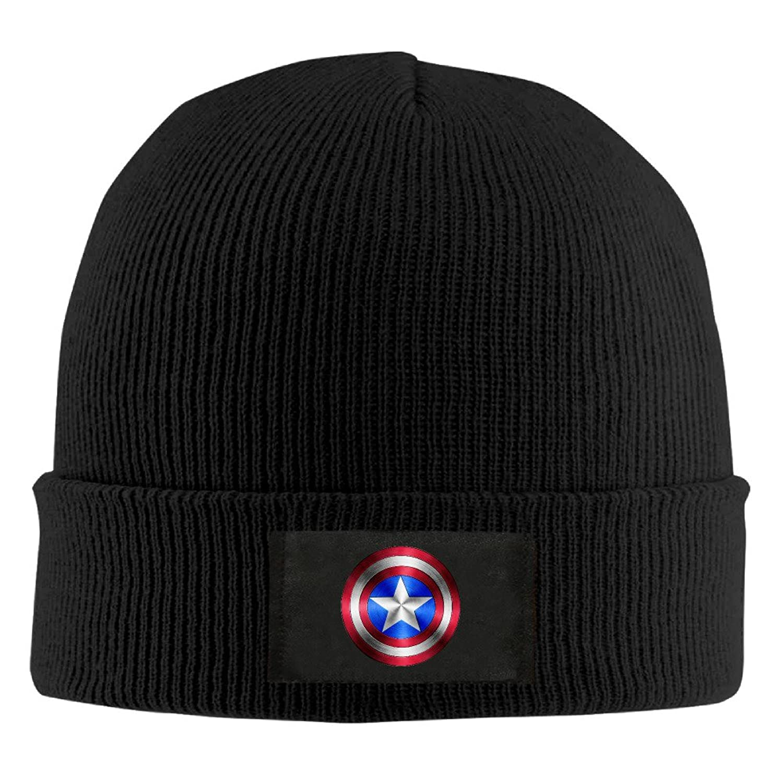 YFLLAY Captain America Shield Knit Cap Woolen Hat For Unisex