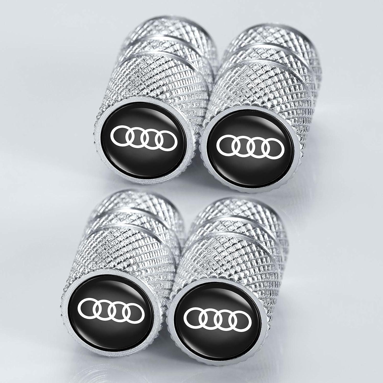 hooyeah Metal Car Wheel Tire Valve Stem Caps Suit for Audi S Line S3 S4 S5 S6 S7 S8 A1 A3 A4 A5 A6 A7 RS3 RS7 A8 Q3 Q5 Q7 R8 TT Styling Decoration Accessory(5 Pcs)