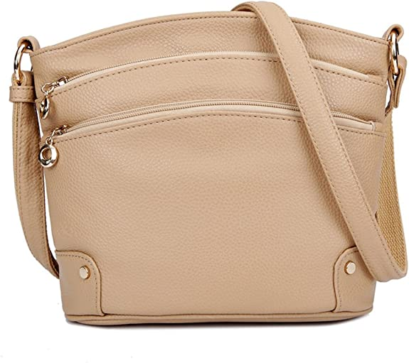 Tibes Fashion Leather Crossbody Bag Women Messenger Bag Mini Shoulder Bags With a Lot Pockets