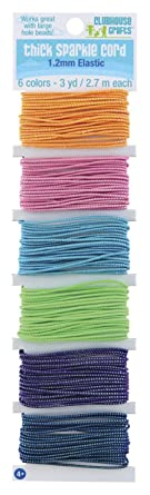 Amazon Com Sulyn Thick Sparkle Elastic Cord Assorted Colors 18