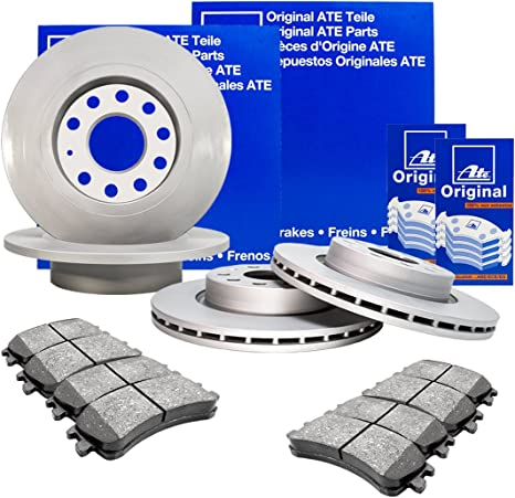 ATE Bremsbel/äge Bremskl/ötze Bremsenset Bremsenkit Komplettset Hinterachse Bremsenreiniger Original ATE Bremsscheiben hinten