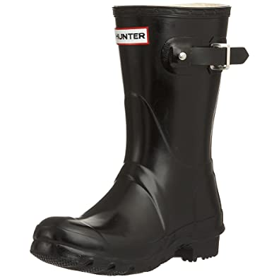 0eb7ac058 Hunter Women's Original Gloss Short Wellies W23700 Black Rubber Boots 7 UK  7 F(M