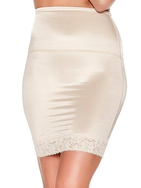 d9646d7983 M Co Ladies Shape and Smooth Retro Control Shapewear Lace Trim Hem Half Slip  Nude 8