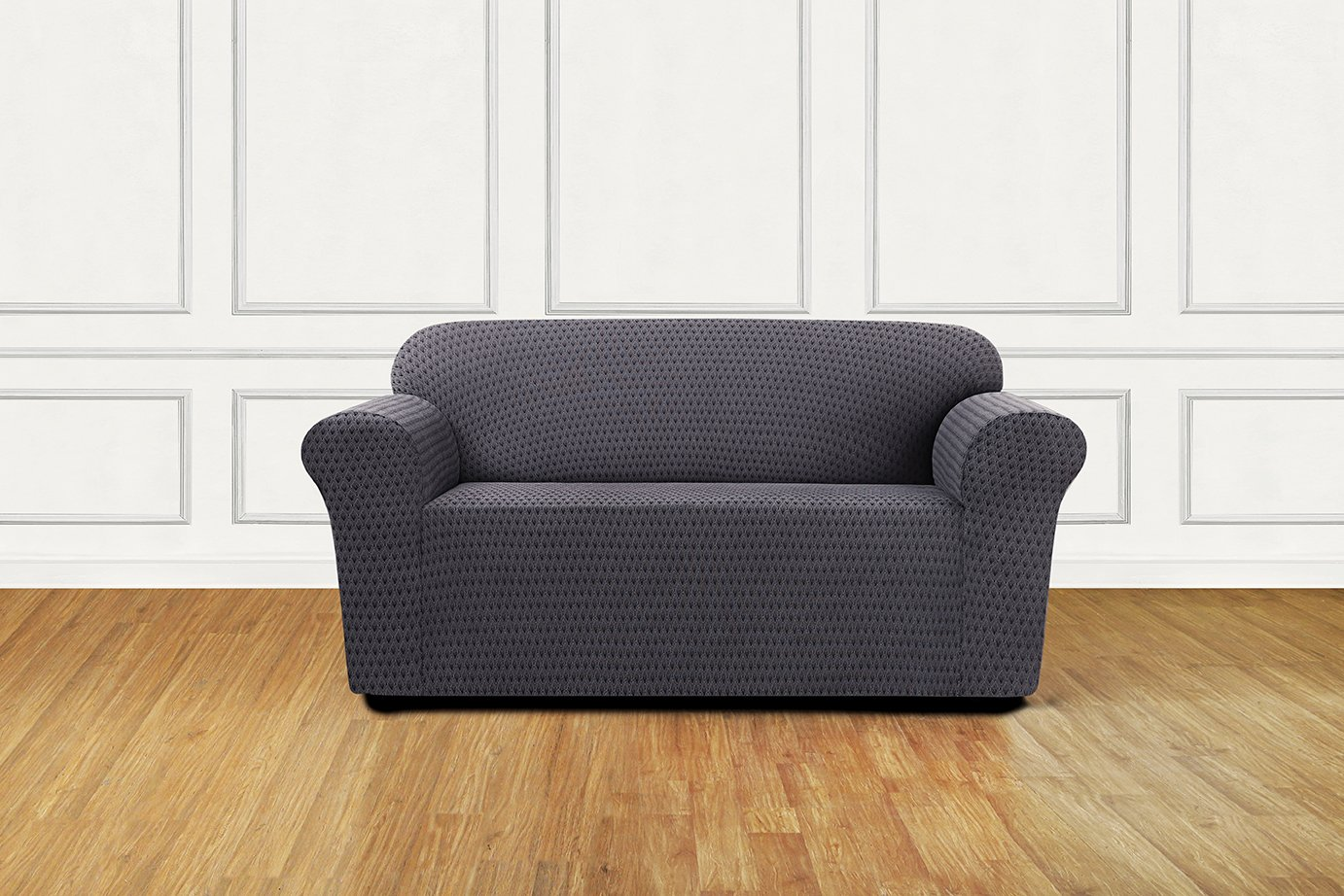 Sure Fit Stretch Sonya 1-Piece - Loveseat Slipcover  - Birch/Timber (SF45940) by Surefit (Image #2)