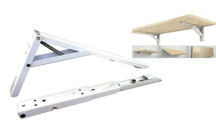 Brackets Folding Shelf Bracket 90 Degree Wall Mounted Spring Loaded Sturdy Bench Table Folding Support 8 Inch Length Pack Of 2