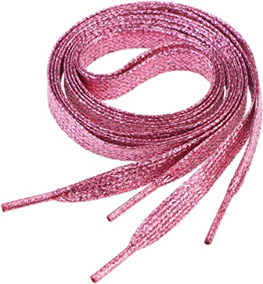 LIOOBO 2pcs 1.1m Flat Glitter Shoelaces