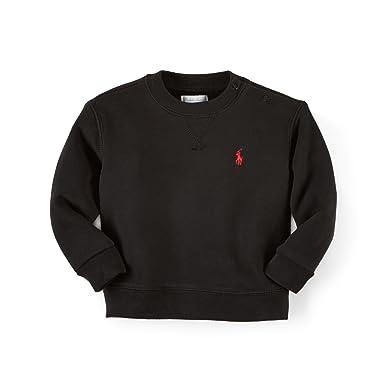 8338ca78e Amazon.com  Ralph Lauren Baby Boys  Fleece Crewneck Sweatshirt (3 ...