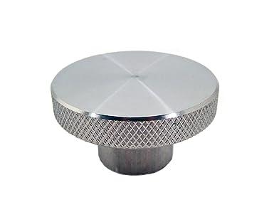 1//4-20 Thread Size x 1//2 Thread Length Knurled Rim Morton 6061 Aluminum Round Domed Knob Threaded Hole Pack of 1 1 Diameter