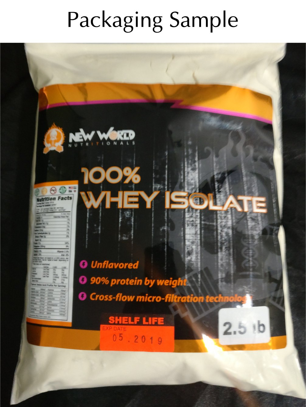 New World Nutritionals Low-Carb 100% Natural Whey Isolate, Supports Lean Muscle Development, Factory Direct,Outrageously Delicious (Unflavored, 10 Pound) by New World Nutritionals (Image #4)