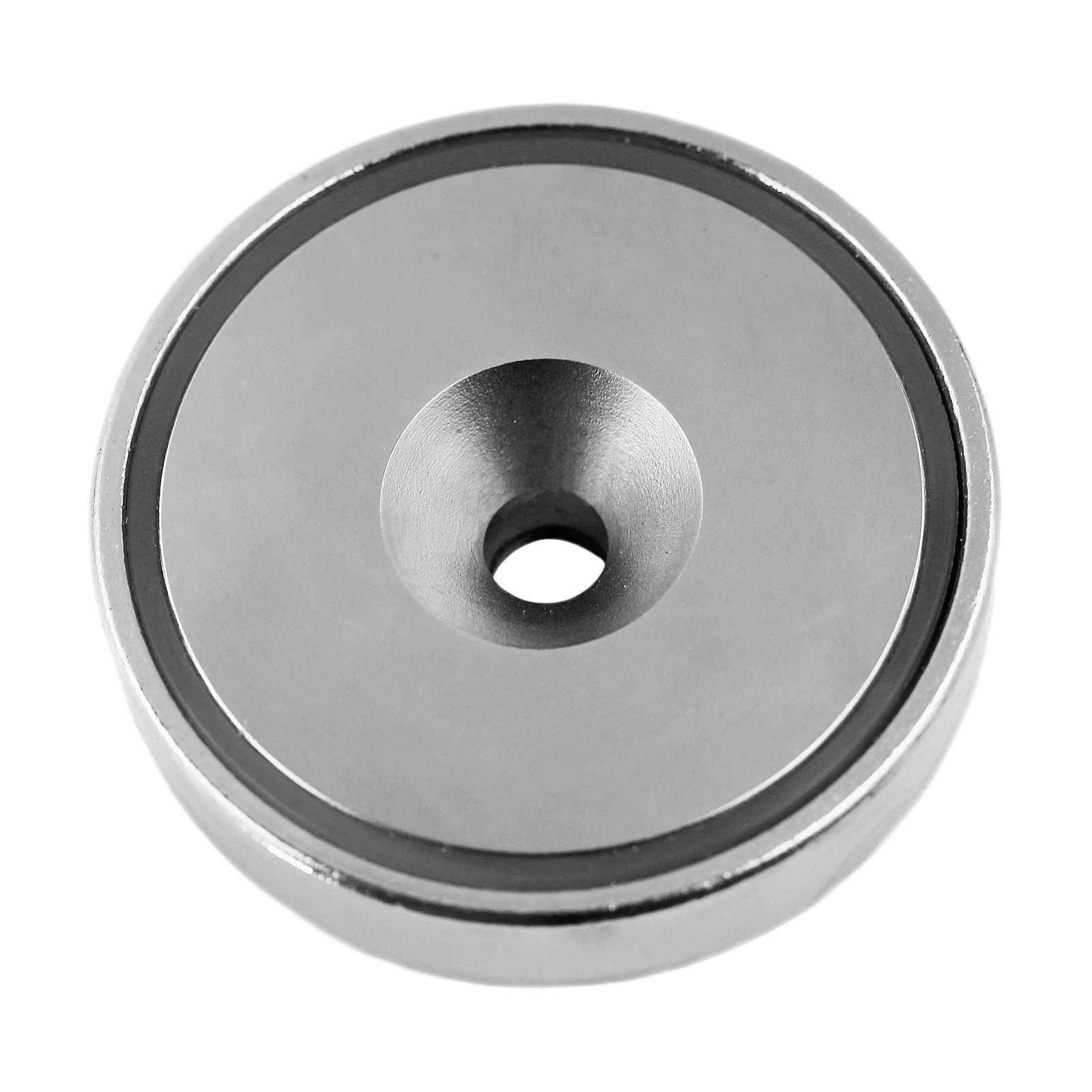 Applied Magnets 1-pc, 3'' Strong NdFeB Neodymium Cup Magnet with Countersunk Hole.