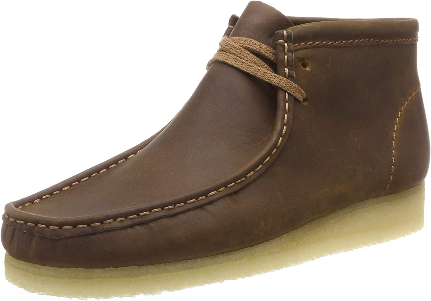 Clarks Originals Wallabee Boot, Botas Chukka para Hombre, Marrón (Beeswax Leather), 41.5 EU