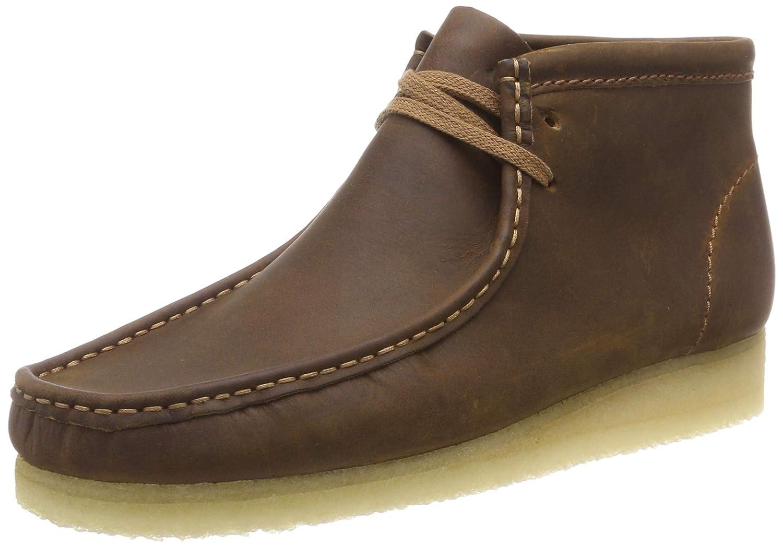 Clarks Originals Herren Wallabee Boot Kurzschaft Stiefel Braun (Beeswax Leather )
