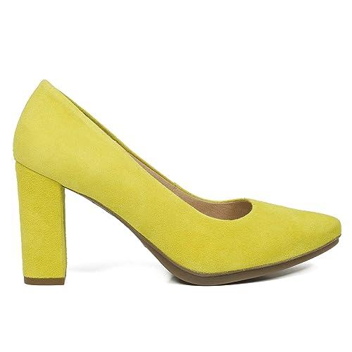 fed3c7ac Zapatos Urban miMaO. Zapatos Piel Mujer Hechos EN ESPAÑA. Zapatos Tacón.  Zapatos Salón. Zapato Cómodo Mujer Urban con Plantilla Gota Confort Gel:  Amazon.es: ...
