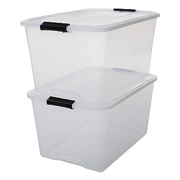 Hervorragend IRIS, 2er-Set stapelbare Aufbewahrungsboxen 'Top Box', mit Deckel  ZY53