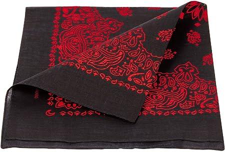 Bandana de calidad superior 100% algodón, aproximadamente 54 x 54 cm, pañuelo, bandana, bufanda, accesorio,