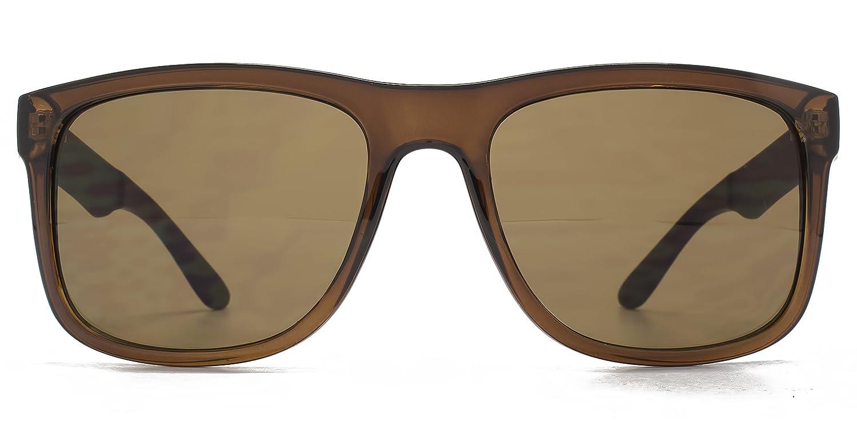 Ben Sherman Texturierte Tempel Kunststoff-Sonnenbrille im Crystal Brown BEN003 One Size Brown gCbnjX9