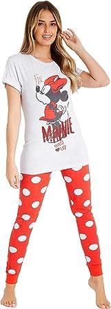 Disney Pijamas Mujer, Pijama Mujer Invierno Minnie Mouse ...