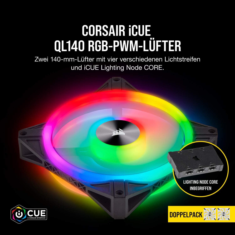 Corsair Icue Ql140 Rgb 140 Mm Rgb Led Pwm Lüfter Computer Zubehör